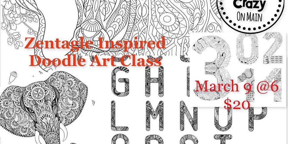 Zentangle Inspired Art Class