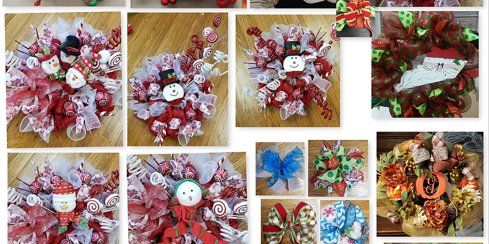 Wreath Class-Choose Your Colors, Style, Embellishments, etc. (1)