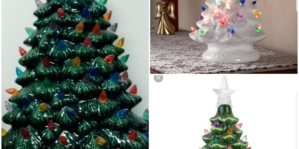 Christmas Ceramics Painting Trees, Ornaments, Dishes, and More