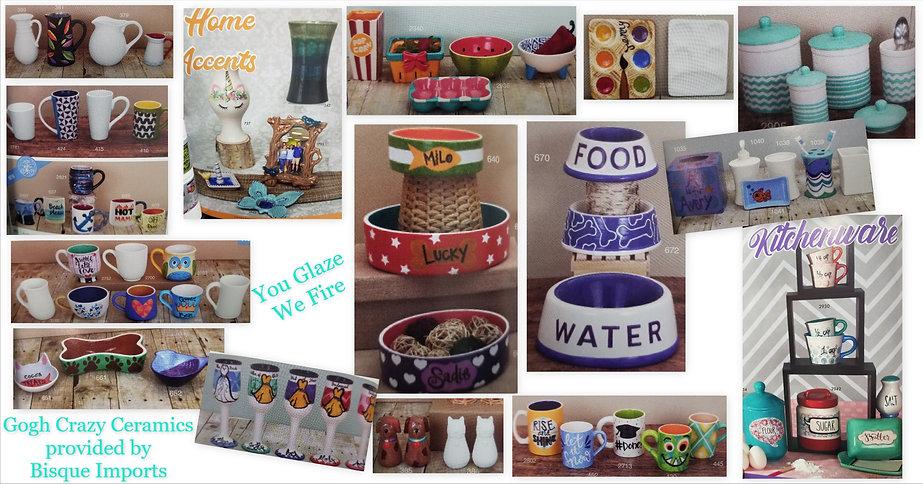 ceramics Kitchen and home gogh crazy 202