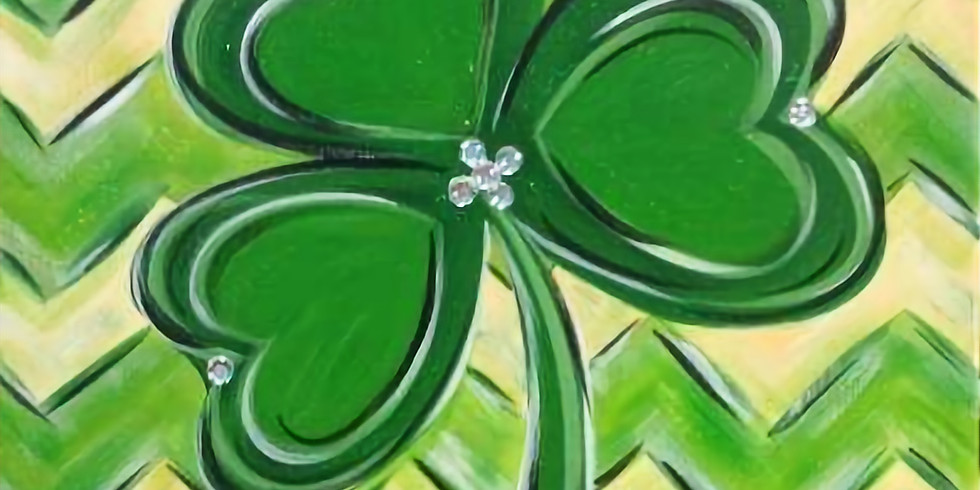 St. Patty's Day Wood/Canvas Painting