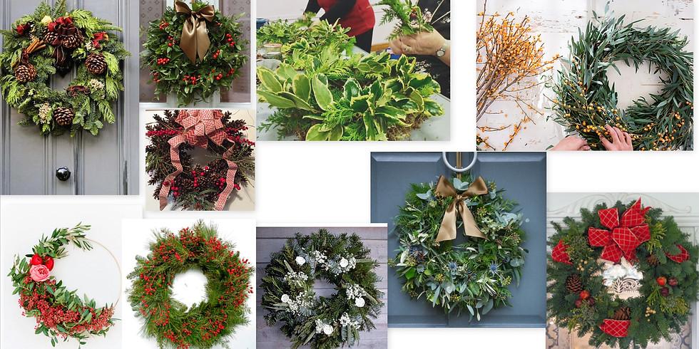 Fresh Christmas Wreath Design Workshop