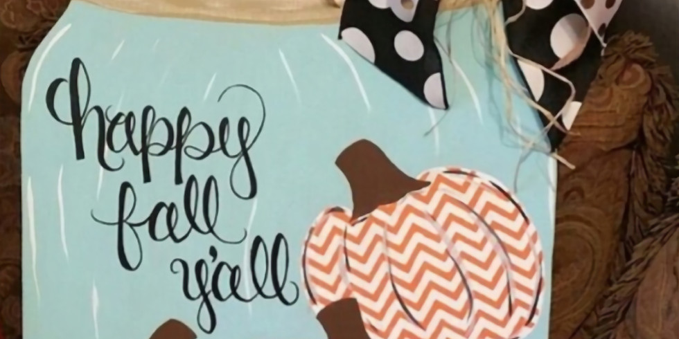 Private Fall Mason Jar Painting Party