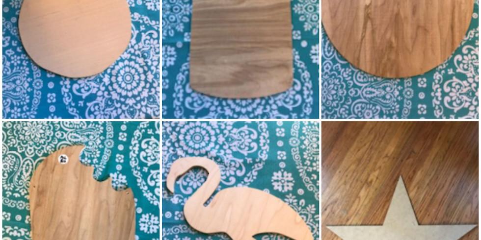 Kids Mini Wooden Cut Out Class $15