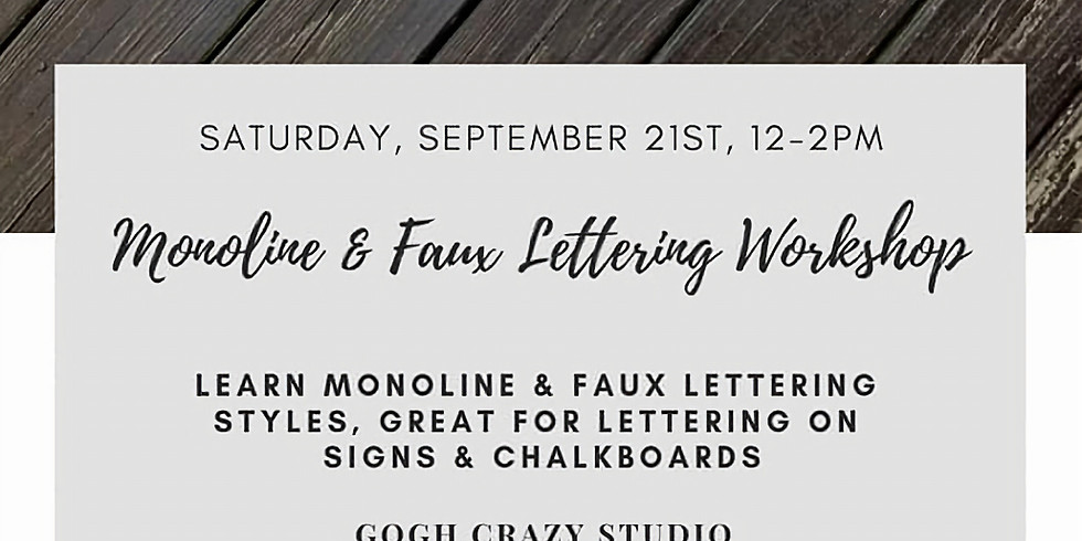 Monoline & Faux Lettering Workshop with Darian Combs