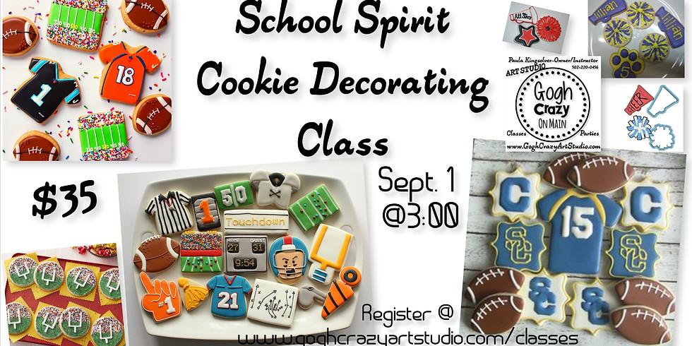School Spirit Iced Sugar Cookie Decorating Class (1)
