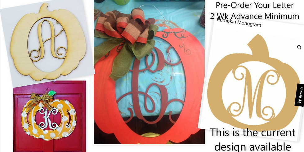 Private Monogram Pumpkin Painting Party with Rema Christian Assembly