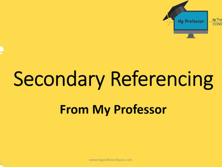 What assignment feedback will you get? (Part 3: Secondary Referencing)