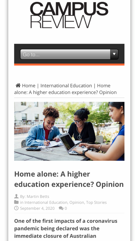 Home alone: a higher education experience?