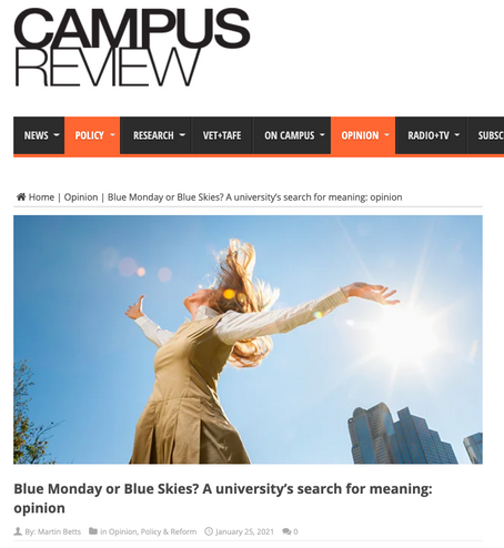 blue monday or blue skies? a university's search for meaning