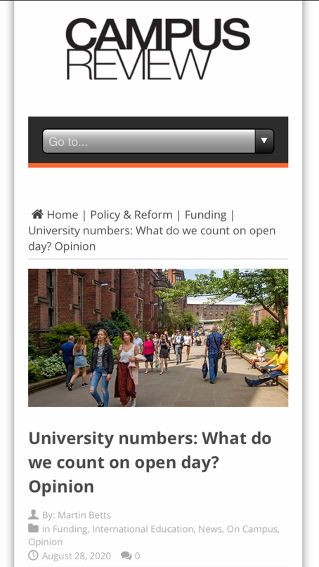 University numbers: what counts if we are all in this together?
