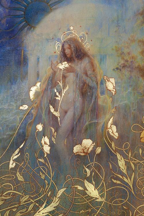 """☽ Les Jardins de Nuit ☾ Collector's Edition Embellished with23K """"Moon"""" gold leaf"""