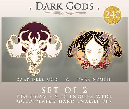 """""""DARK GODS"""" ⭐ - Hard Enamel Pins - Big 55mm / 2.16 Inches Wide"""