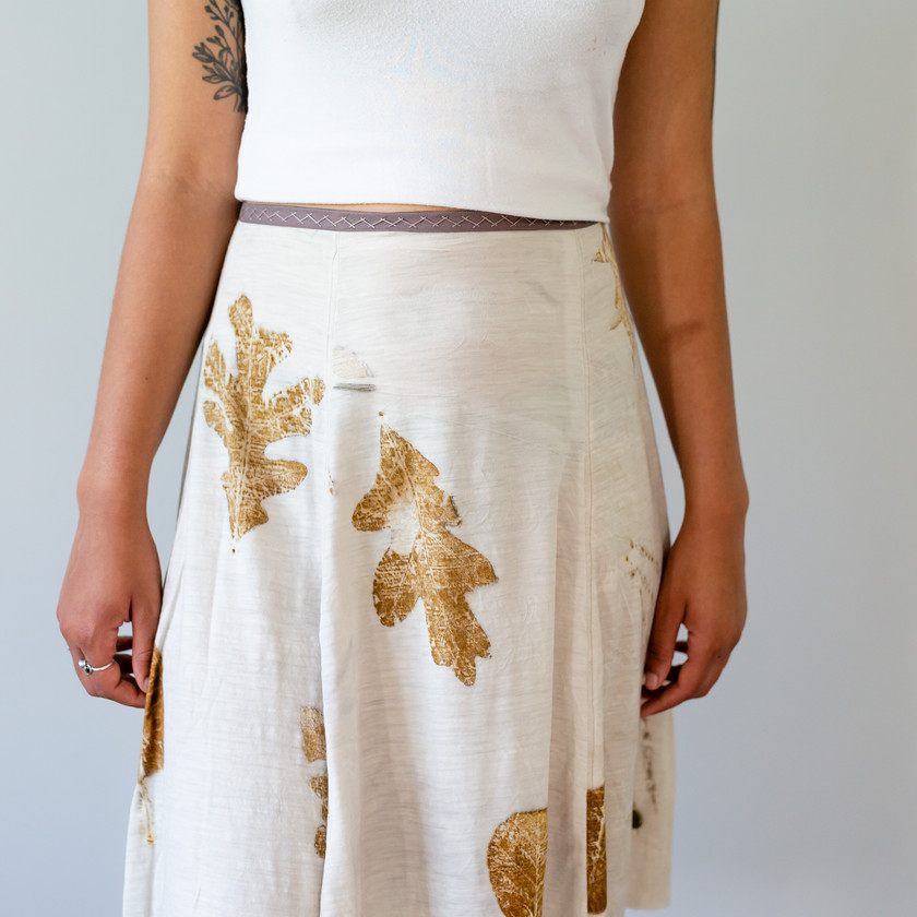 Cream Any Day eco printed wool jersey Skirt