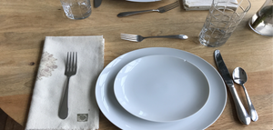 silk napkins ecoprint natural dine-in