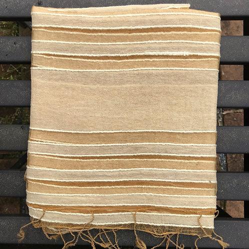 Striped Silk & Cotton Shawl