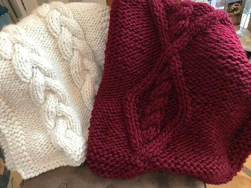 Chunky Knit Lap Blanket