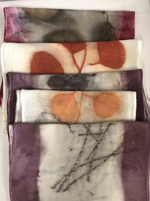 Small Garden Silk Scarves