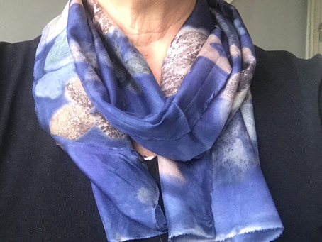 NEW STYLE - Little Square Gardens - eco printed scarves