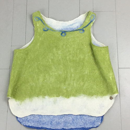Green & French Blue Nuno Top ND8