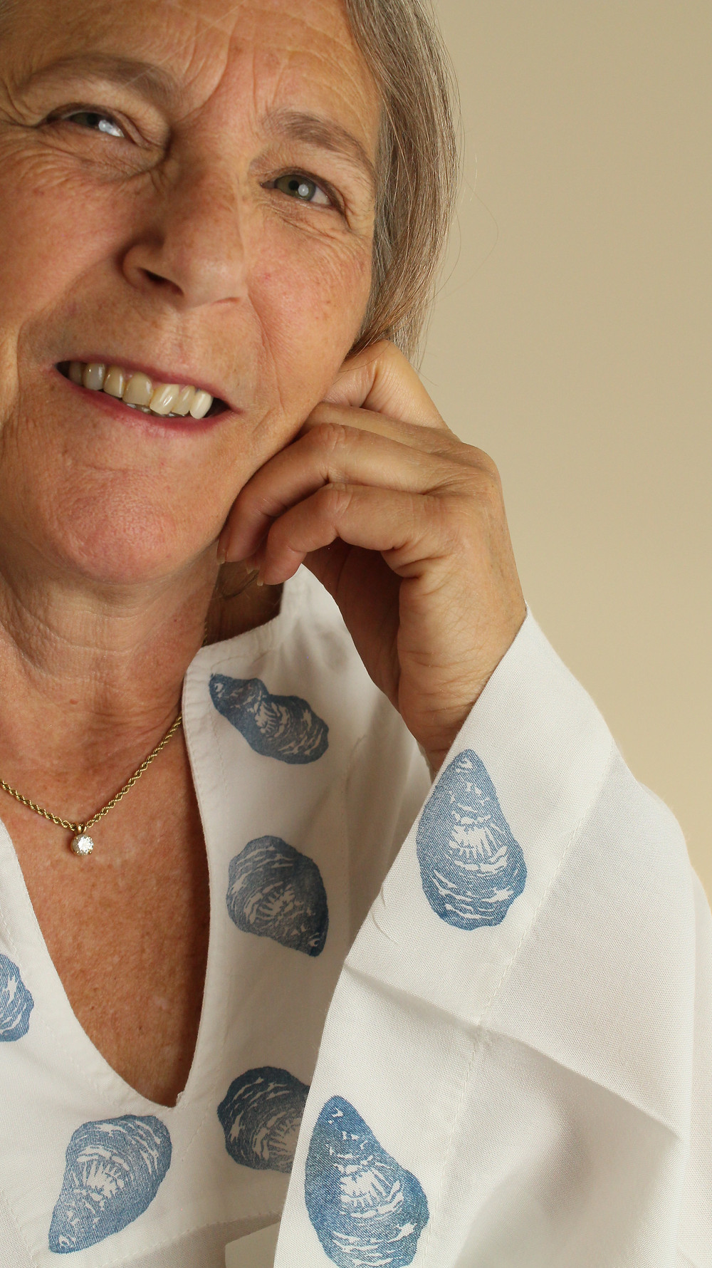 Summer style: hand block printed rayon tunic with oysters