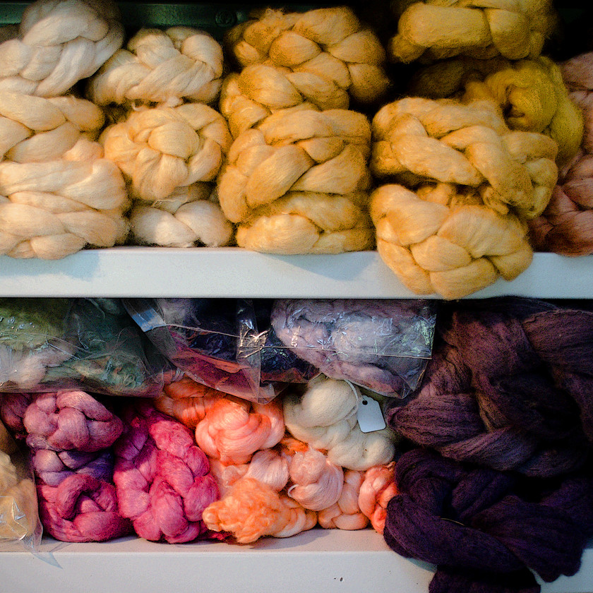 Naturally Dyed roving