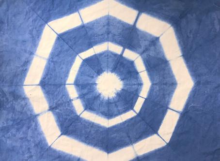 Folded Shibori Workshop: Sept 12th 9-12:30 in the Studio
