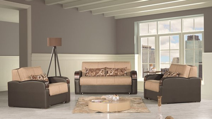 Casamode Sleep Plus Brown 3pc Living Room Set