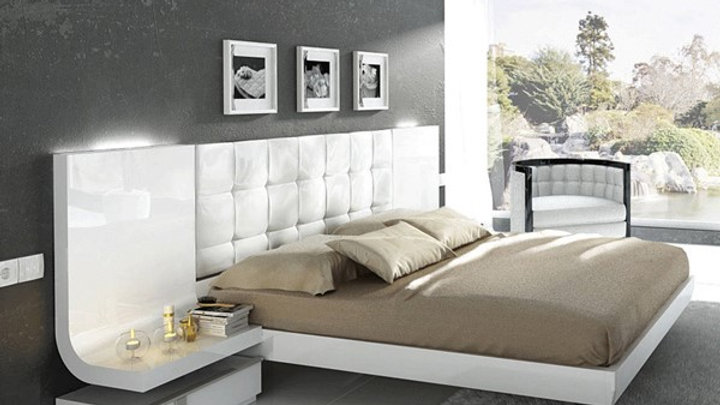 ESF Fenicia Spain Granada White 3pc Bedroom Set with Queen Bed