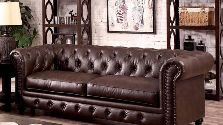 Furniture of America Stanford Traditional Sofa, Brown