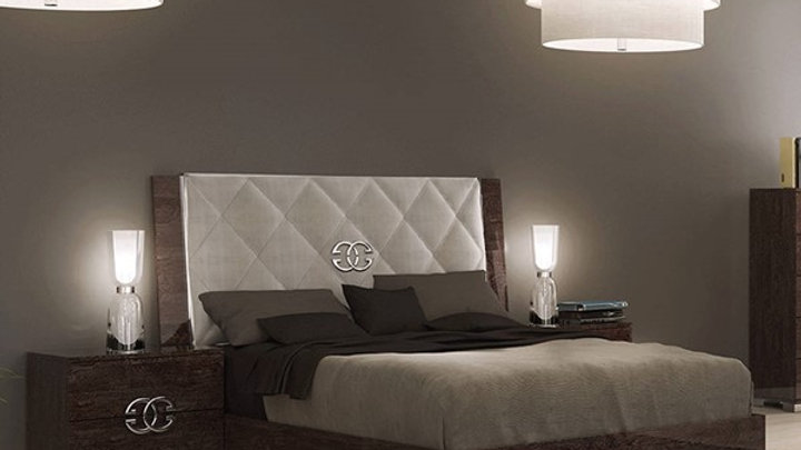 ESF Status Italy Prestige Walnut Wood 3pc Bedroom Set with Queen Bed