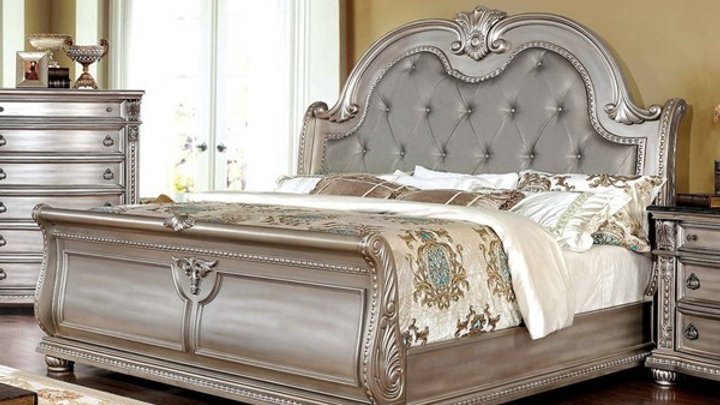 Furniture Of America Fromberg Vinyl King Bed