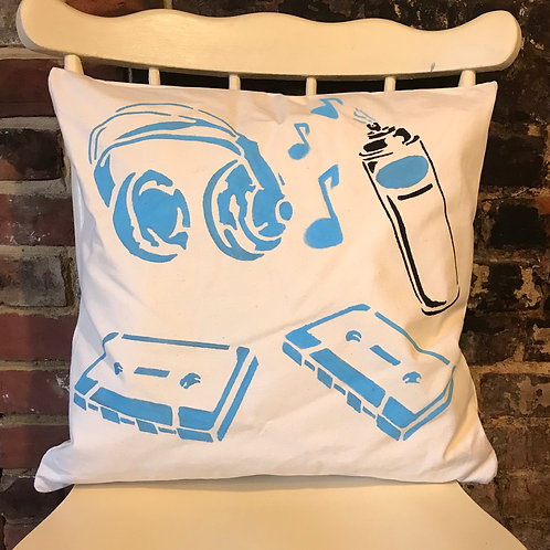 Retro Blues - Cushion Art
