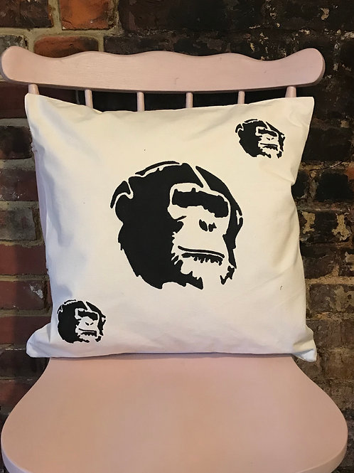 Go Gorilla Go - Graffiti Cushion Art