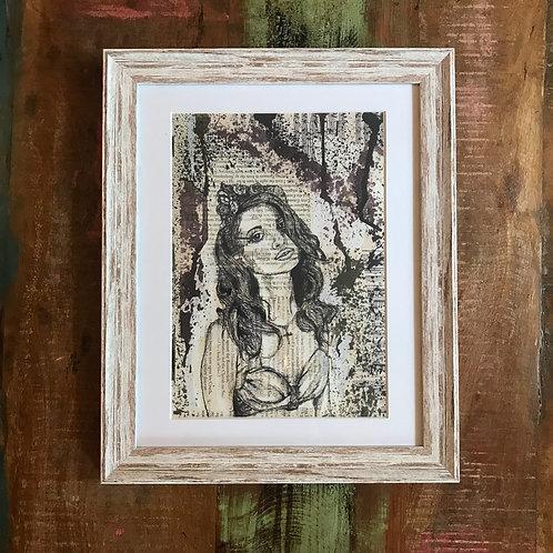 Party Girl Print - Vintage Stue Frame