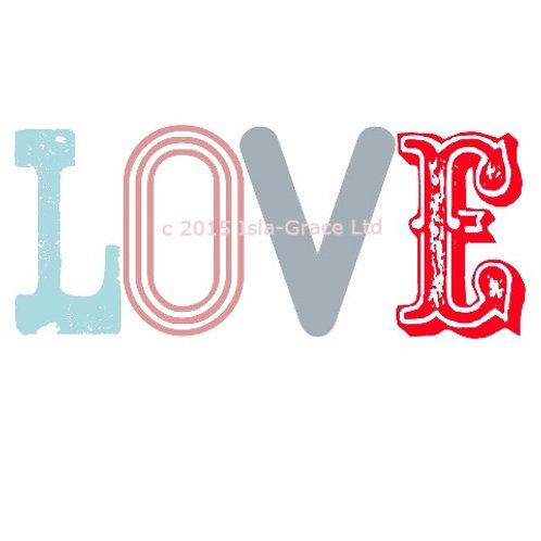Love Pastel Greeting Card