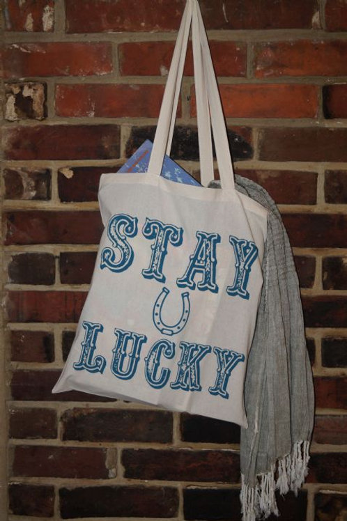 Stay Lucky Design Tote Bag