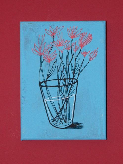 'Glass Half Full' original art on canvas