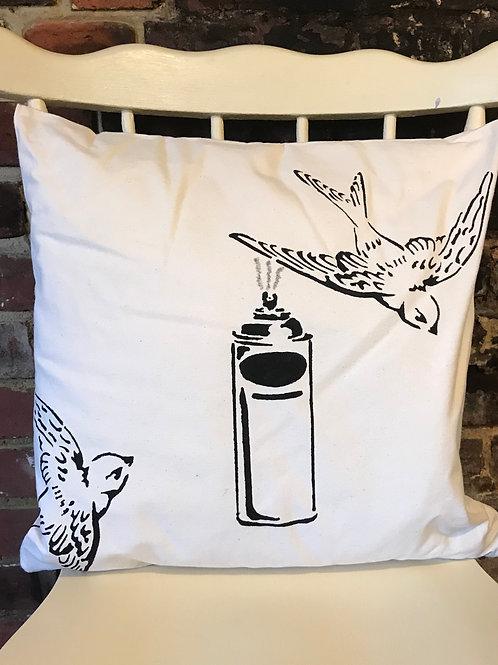 Black Bird - Graffiti Cushion Art