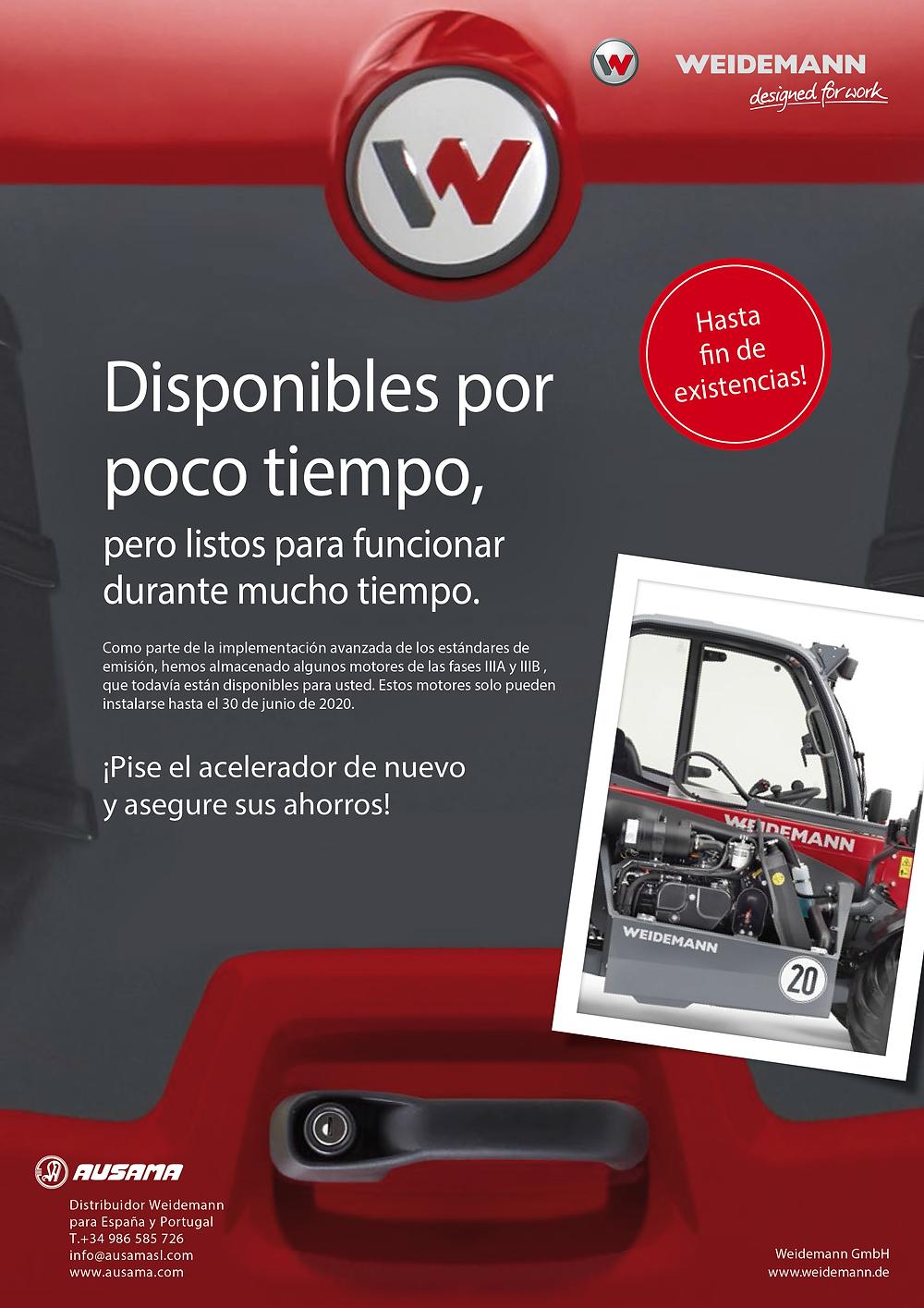 Flyer disponibilidad motores Weidemann