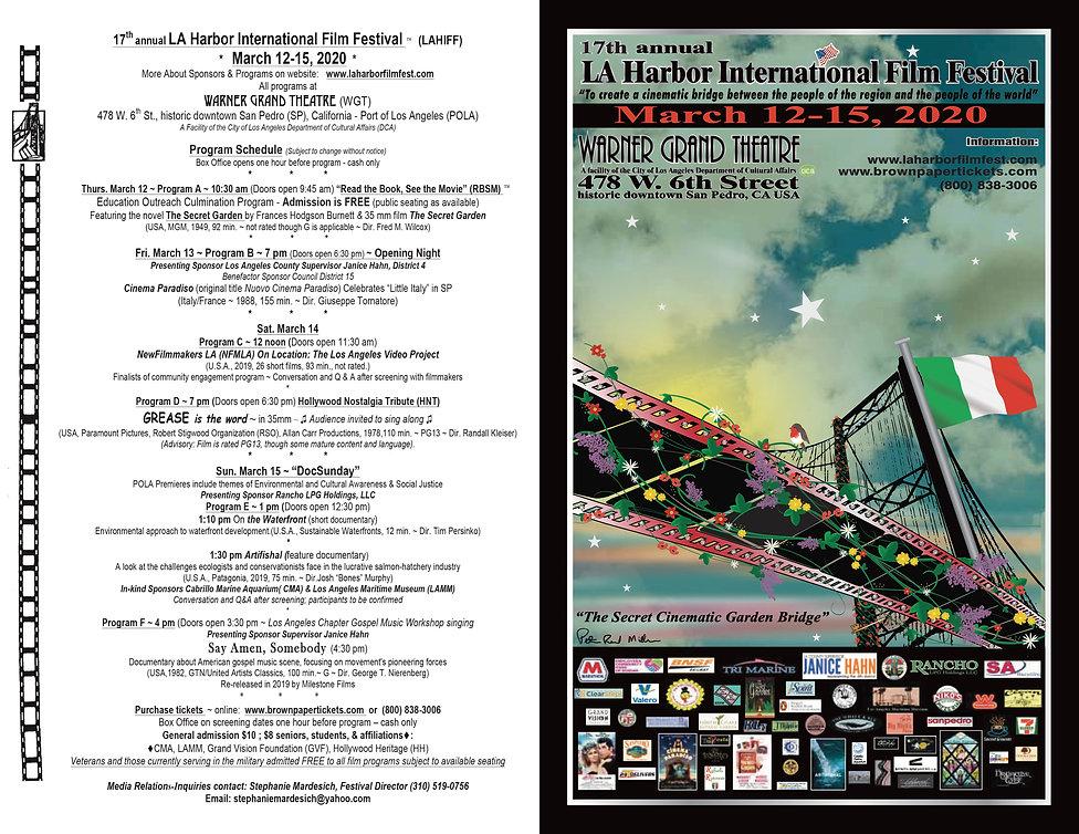 LAHIFF program schedule & poster   2020.