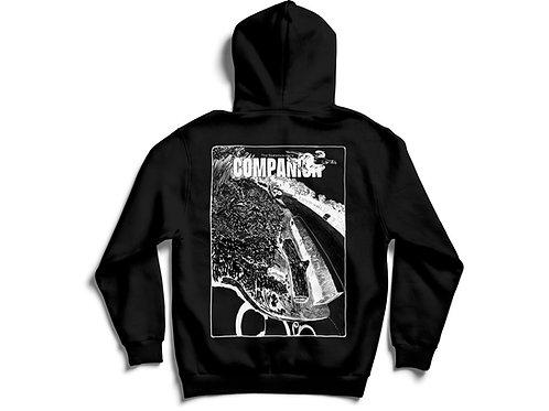 Issue 1 by Jake Martinelli - black hooded sweatshirt.