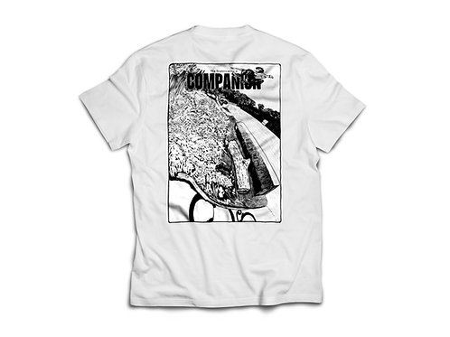 Issue 1 by Jake Martinelli - white tee.