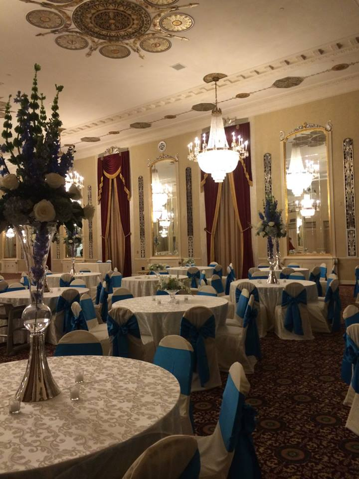 Cobalt Blue Chair Cover Reception