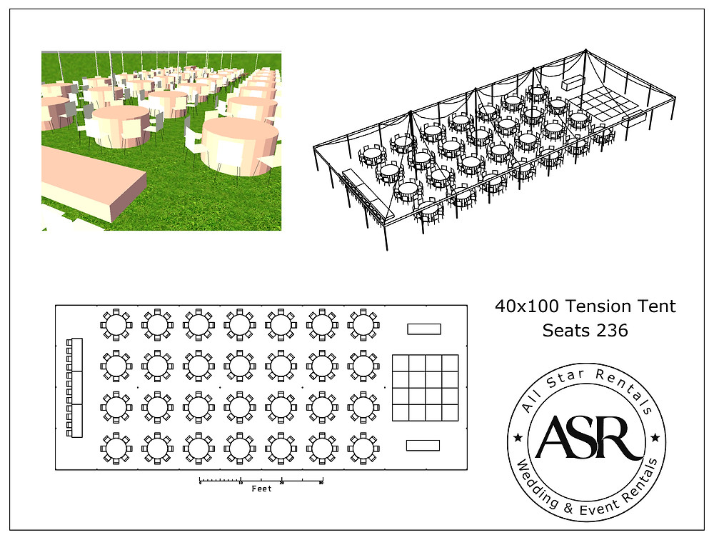 40x100 Tension Tent CAD