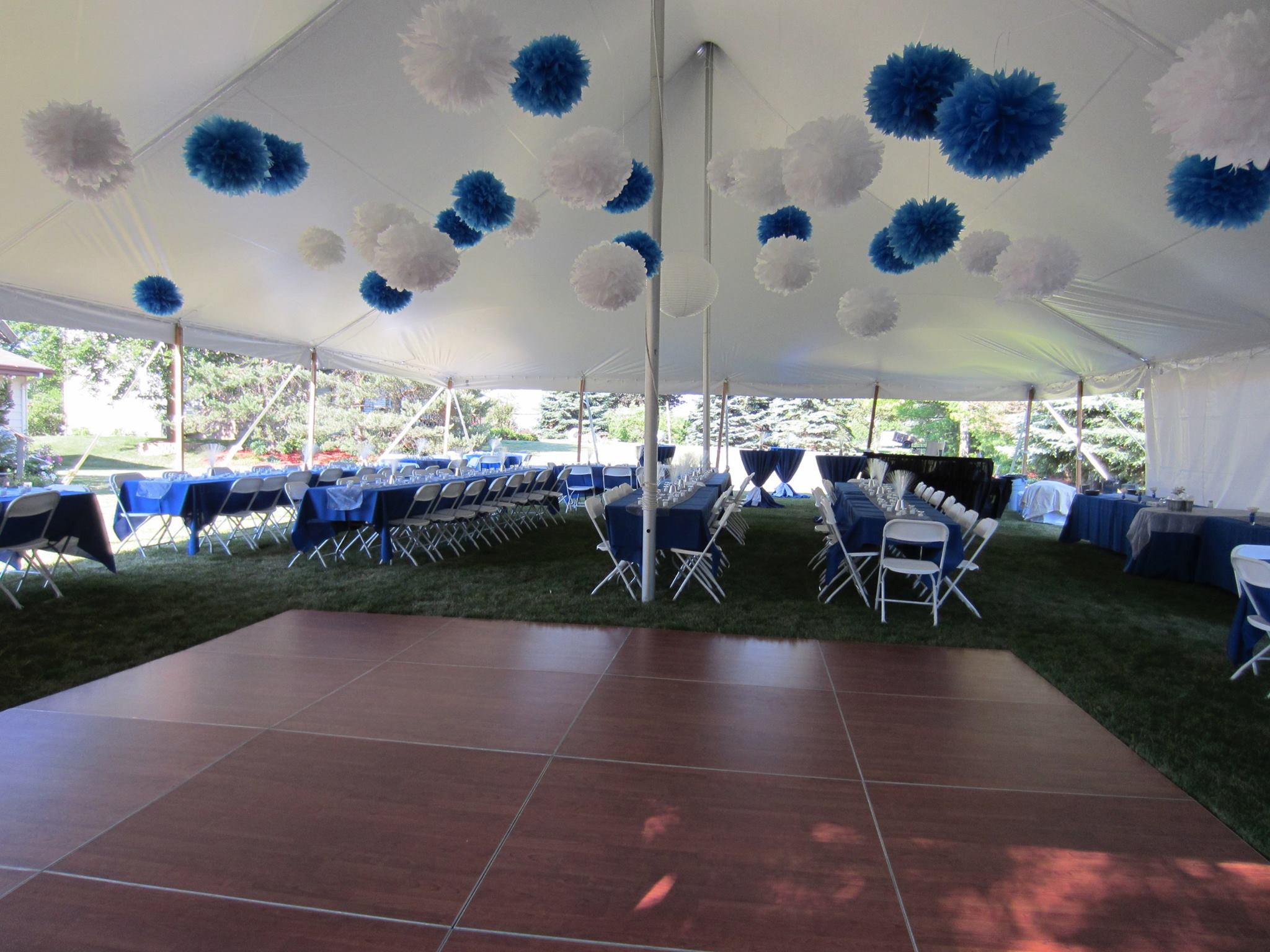 Royal Blue Tent Reception