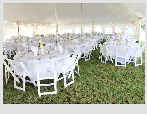 Milwaukee White Garden Folding chairs