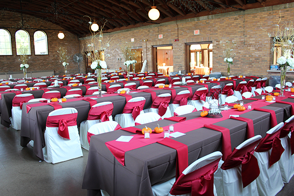 Chocolate and Red Wedding Reception