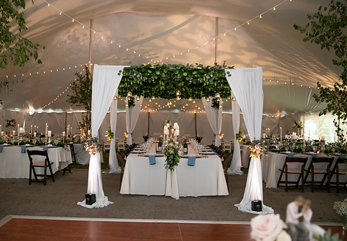Tent weddin with drape