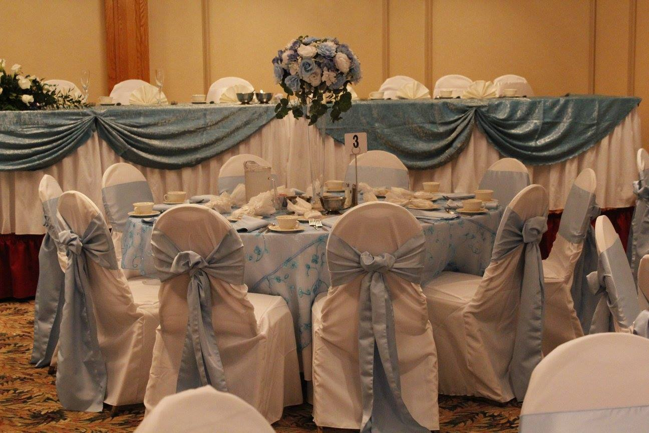 Baby Blue Chair Cover Reception